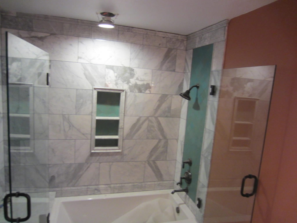 Tub and shower frameless enclosure patriot glass and mirror san diego ca - Bathtub in shower ...