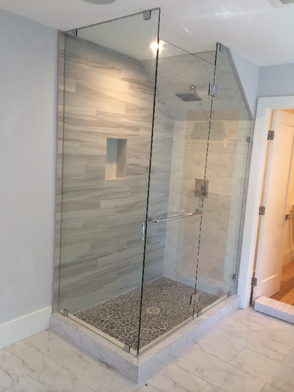 Genial Glass Enclosure With Angled Ceiling   Patriot Glass And Mirror | San Diego  CA