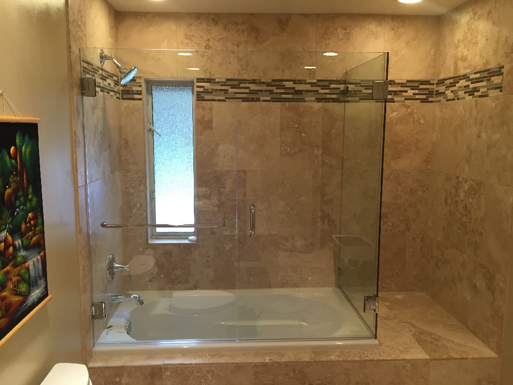 Double Door Enclosure - Patriot Glass and Mirror | San Diego CA