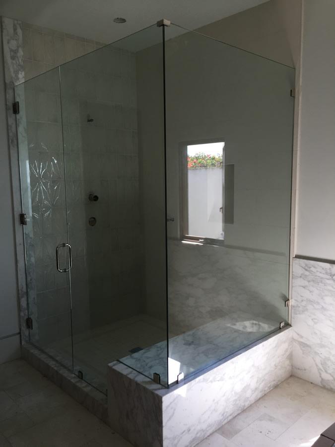 Large Half Inch Frameless Glass Shower Enclosure Patriot
