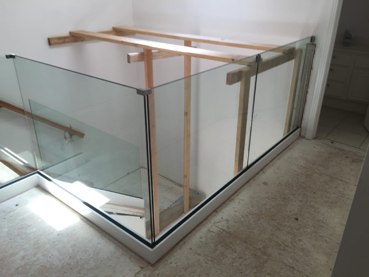 Modern Glass Railing Install Patriot Glass And Mirror