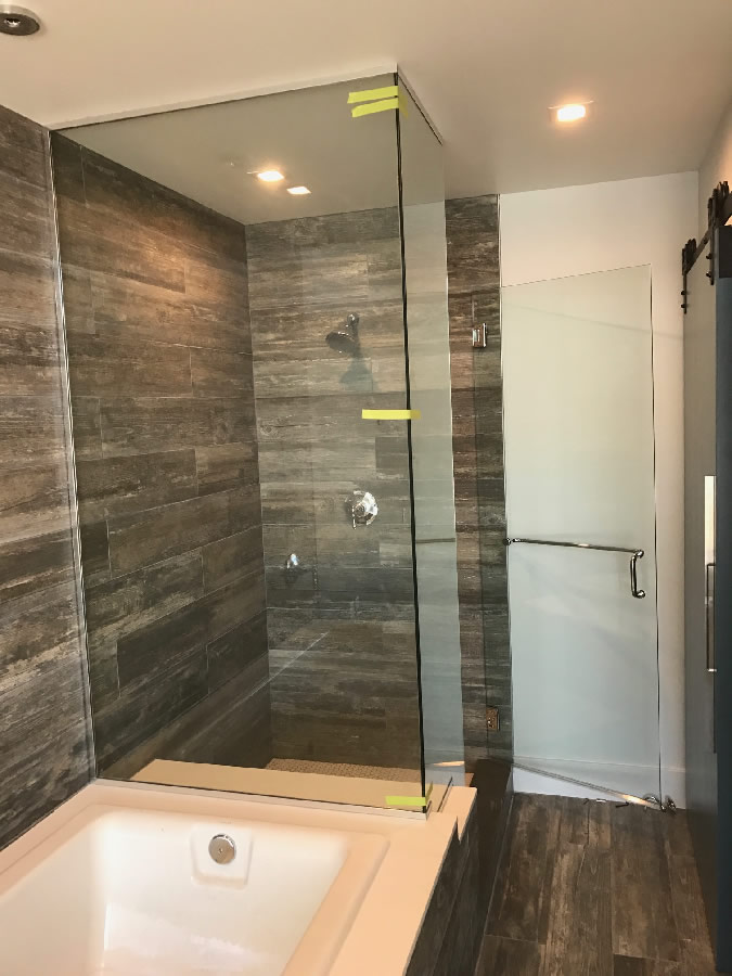 Chrome U Channel Glass Enclosed Shower Patriot Glass And