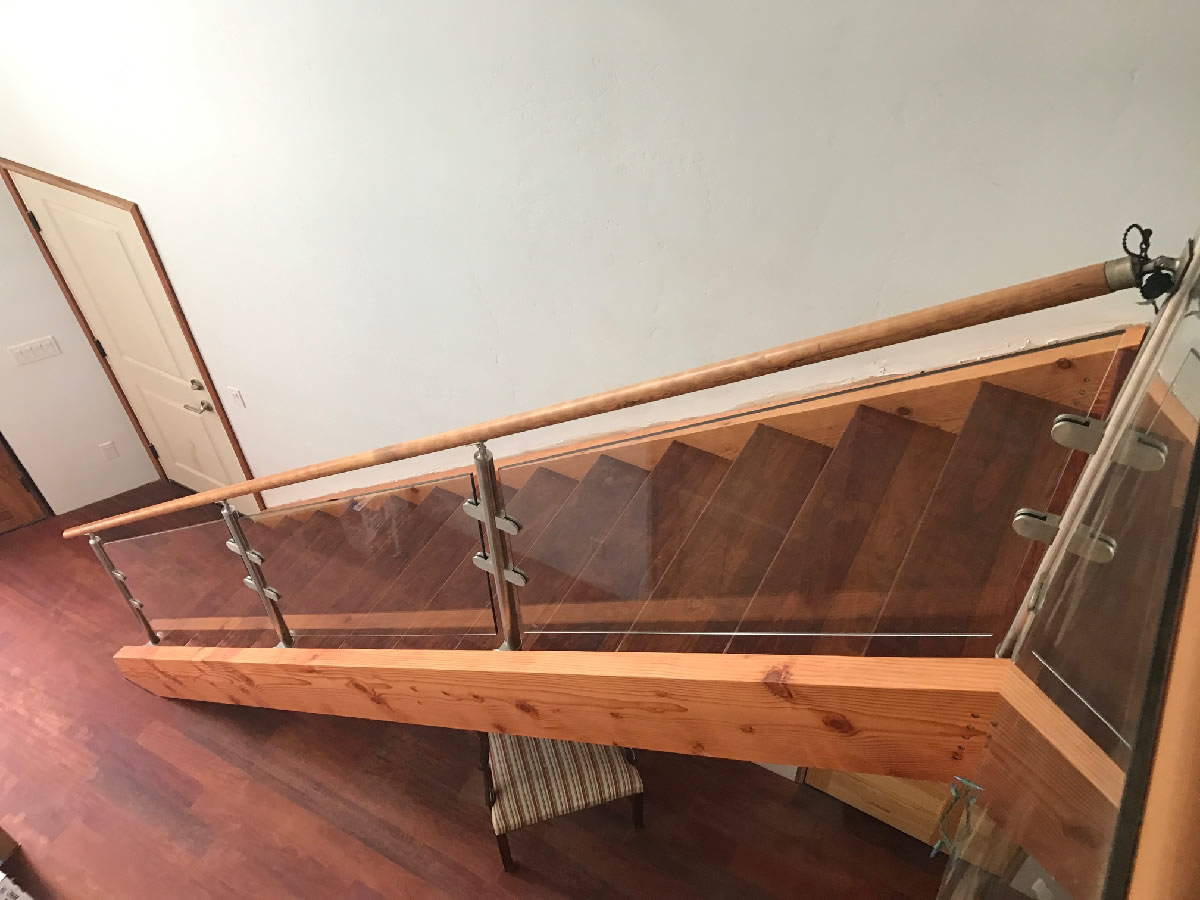 Glass Railing With Stainless Steel Post Patriot Glass