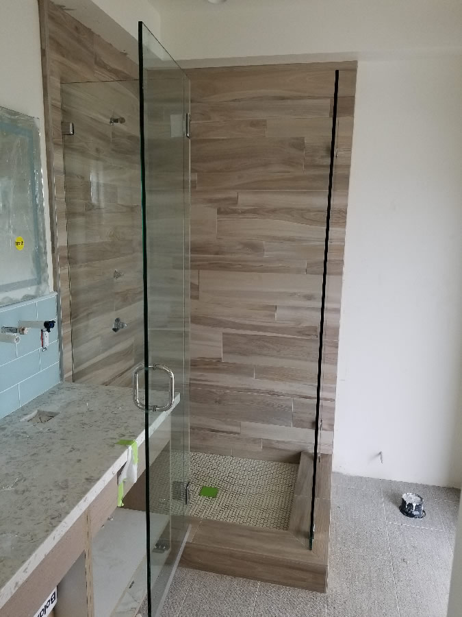 Point Loma Custom Glass Shower Enclosure Installation
