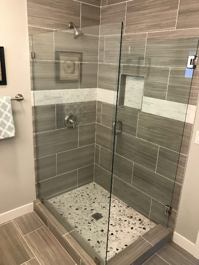Corner Shower Glass Enclosure Patriot Glass And Mirror