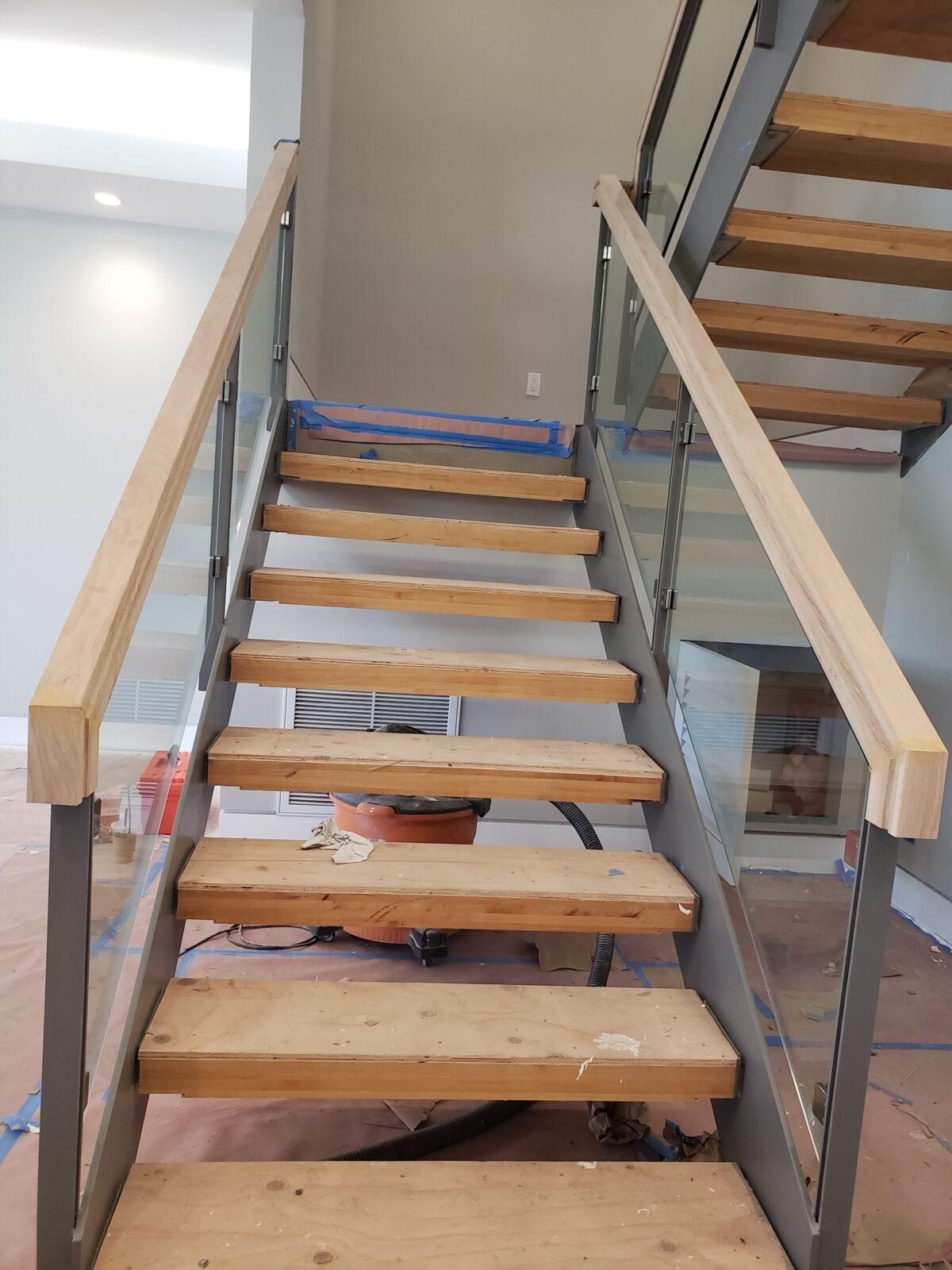 Coronado | Custom glass stairway railing